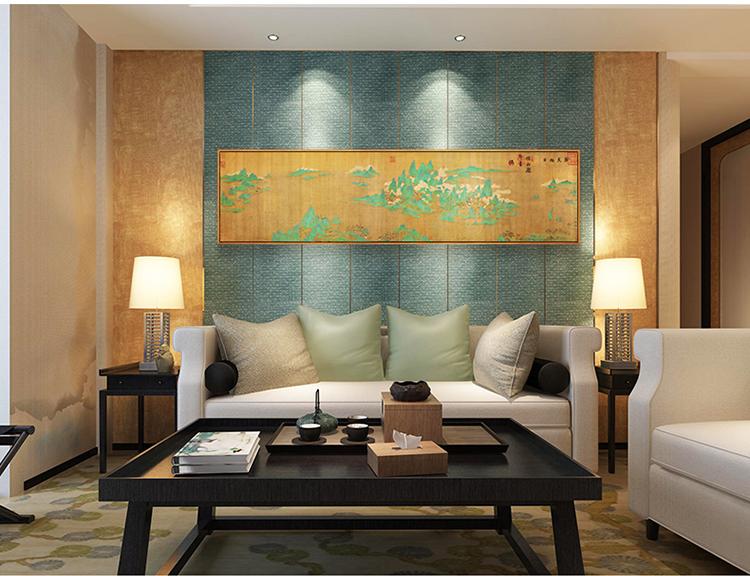 新中式客厅水墨国画装饰画高仿餐厅卧室玄关沙发背景墙挂画墙画壁画图片